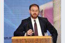 National Bank of Moldova gave a press conference on inflation report'