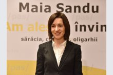 Candidate for president position Maia Sandu held a news conference '
