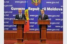 Prime Minister Pavel Filip and Parliament Speaker Andrian Candu held a press briefing.'