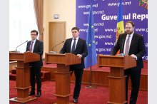 Joint press conference of the IMF Agreement with Moldova'