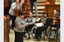 Persons with special needs on visit to Moldovan parliament  '