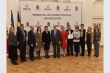 The signing of the Cooperation Agreement on the project's competitiveness in the Republic of Moldova.'