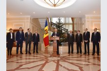 Igor Dodon, has held a briefing in which he presented the president's team.'