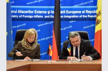 Signing of an agreement between German and Moldovan governments on technical cooperation.'