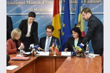 The Ministry of Labour, Social Protection and Family held a press conference on the signing of the Agreement between Moldova and Germany in the field of social security at the Ministry of Labour'