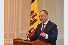 President Igor Dodon held a briefing.'