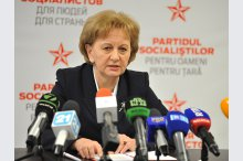 The leader of the Party of Socialists, Zinaida Grecianîi, held a press conference.'