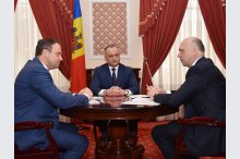 President Igor Dodon, Parliament Speaker Andrian Candu and Prime Minister Pavel Filip held a meeting.'