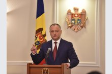 President Igor Dodon held a briefing '