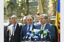 Leader of the Liberal Party Mihai Ghimpu held a news conference'