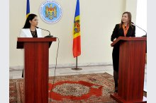 А news conference on the fourth meeting of the Moldova-Romania Intergovernmental Commission for European Integration'