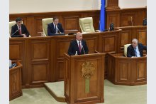 Prime Minister Pavel Filip presented a report on the implementation of the government's action programme for 2016'