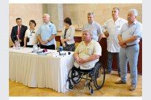 The ceremony for the evaluation and distribution of wheelchairs for 575 people with disabilities of the locomotive apparatus'