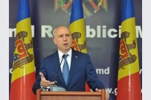 Prime Minister Pavel Filip hуld a press briefing on household waste management in Chisinau'
