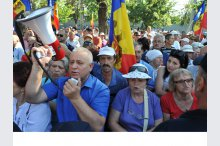 Protests against the change of the electoral system'