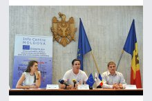 The  conference on the launch of Erasmus+Youth Info Centre in Moldova'